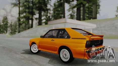 Audi Quattro Coupe 1983 para visión interna GTA San Andreas
