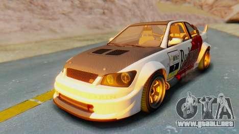 GTA 5 Karin Sultan RS Carbon IVF para GTA San Andreas interior