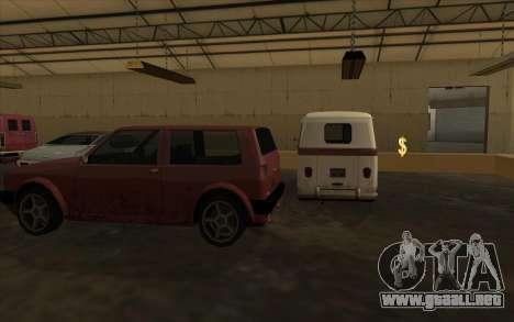 El garaje en el muelle para GTA San Andreas tercera pantalla