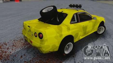 Nissan Skyline R34 Rusty Rebel para GTA San Andreas left