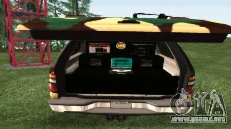 Chevrolet Suburban De Camuflaje para la visión correcta GTA San Andreas
