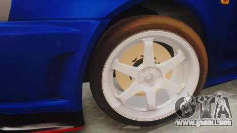 Nissan Skyline GT-R 2005 Z-Tune Nismo Prototype para la visión correcta GTA San Andreas