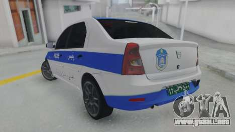 Dacia Logan Iranian Police para GTA San Andreas left