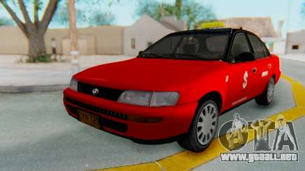 Toyota Corolla Dollar Taxi para GTA San Andreas