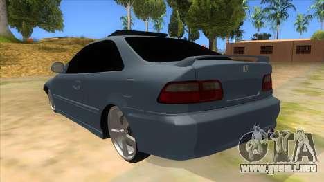 Honda Civic Coupe 1995 para GTA San Andreas vista posterior izquierda