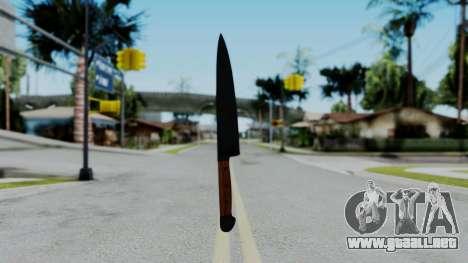 No More Room in Hell - Kitchen Knife para GTA San Andreas tercera pantalla