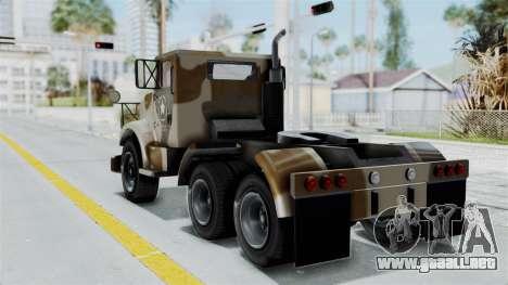 GTA 5 HVY Barracks Semi IVF para GTA San Andreas left