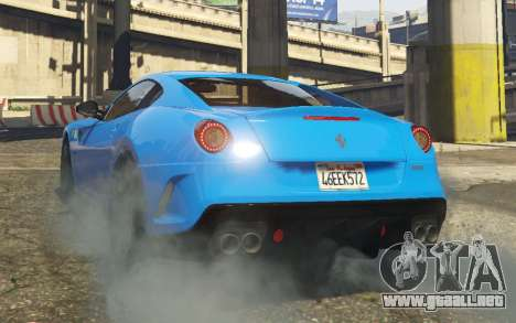 GTA 5 Ferrari 599 GTO[Replace] vista lateral izquierda trasera