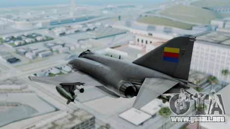 F-4E Phantom II Royal Noord-Hollandian Air Force para la visión correcta GTA San Andreas