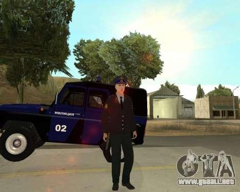 La Piel Es Sergei Glukharev para GTA San Andreas quinta pantalla