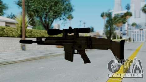 SCAR-20 v1 Supressor para GTA San Andreas segunda pantalla
