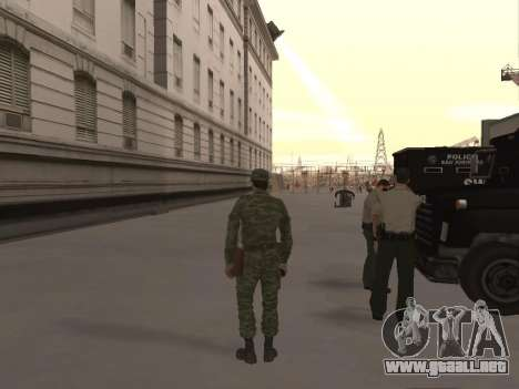 El aire de soldado para GTA San Andreas tercera pantalla