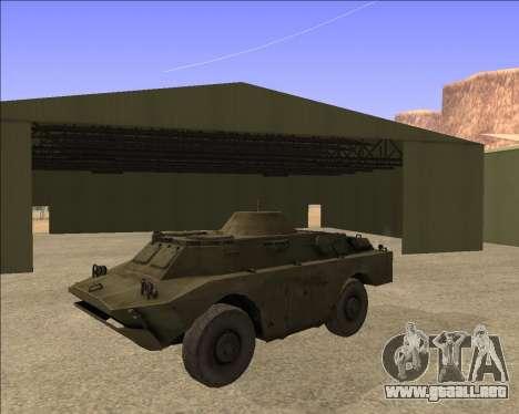 BRDM-2ЛД para GTA San Andreas vista hacia atrás