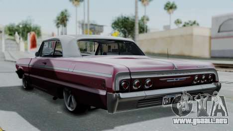 Chevrolet Impala 1964 para GTA San Andreas left
