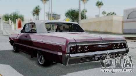 Chevrolet Impala 1964 para GTA San Andreas left