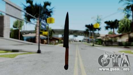 No More Room in Hell - Kitchen Knife para GTA San Andreas segunda pantalla