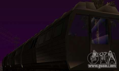 Batman Begins Monorail Train Vagon v1 para la vista superior GTA San Andreas