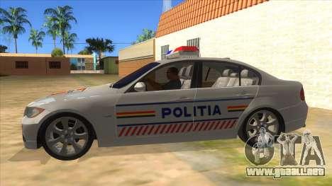 BMW 330XD Romania Police para GTA San Andreas left