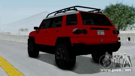 GTA 5 Karin Beejay XL para GTA San Andreas left
