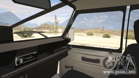 GTA 5 Land Rover 110 Pickup Armoured vista lateral trasera derecha