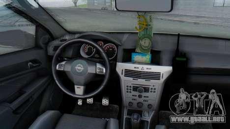 Opel-Vauxhall Astra Policia para visión interna GTA San Andreas