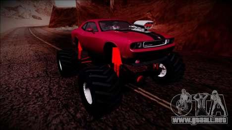 2009 Dodge Challenger SRT8 Monster Truck para la vista superior GTA San Andreas