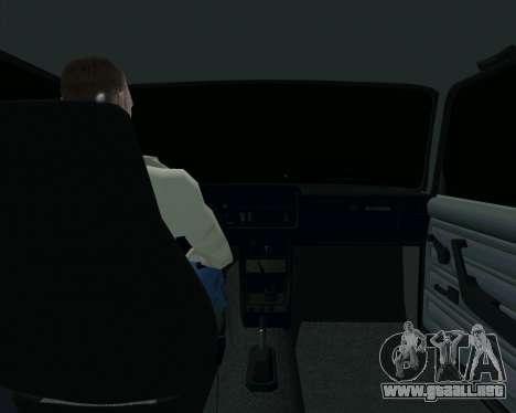 VAZ 2107 Hobo para visión interna GTA San Andreas