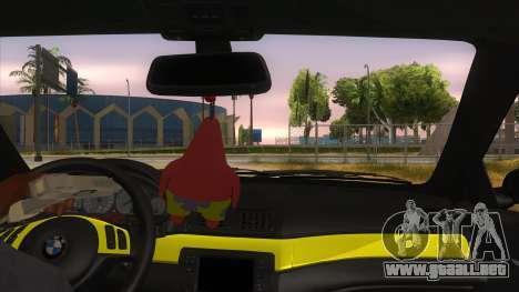 BMW M3 E46 Lily Itasha para visión interna GTA San Andreas