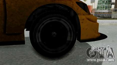 GTA 5 Karin Sultan RS Drift Big Spoiler para GTA San Andreas vista posterior izquierda