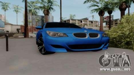 BMW M5 para visión interna GTA San Andreas