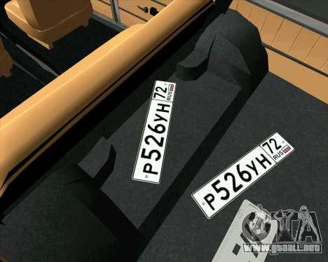 VAZ 2102 de Combate Clásicos para la visión correcta GTA San Andreas