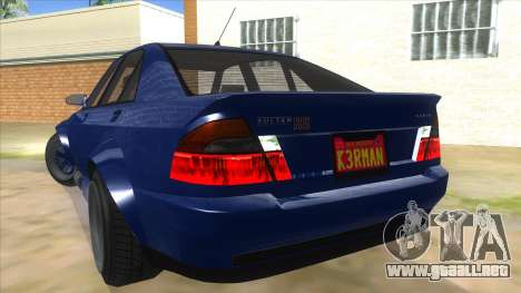 GTA V Karin Sultan RS 4 Door para vista inferior GTA San Andreas