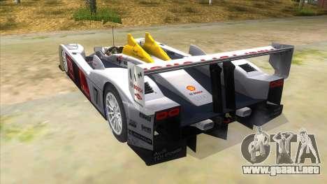 Audi R10 para GTA San Andreas vista posterior izquierda