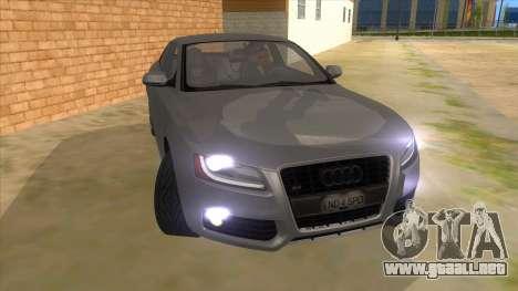 Audi S5 Sedan V8 para GTA San Andreas vista hacia atrás
