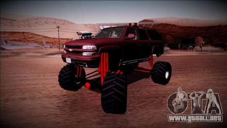 2003 Chevrolet Suburban Monster Truck para GTA San Andreas vista hacia atrás