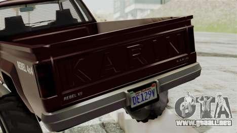 GTA 5 Karin Technical Cleaner IVF para visión interna GTA San Andreas