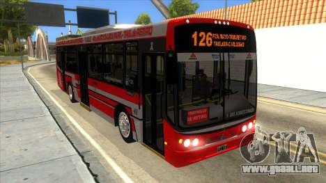TodoBus Pompeya II Agrale MT15 para visión interna GTA San Andreas