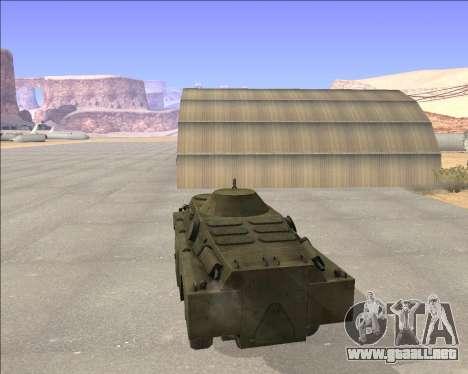 BRDM-2ЛД para GTA San Andreas vista posterior izquierda