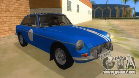 Richard Hammond MGB GT Top Gear para GTA San Andreas vista hacia atrás