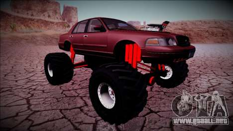 2003 Ford Crown Victoria Monster Truck para vista inferior GTA San Andreas