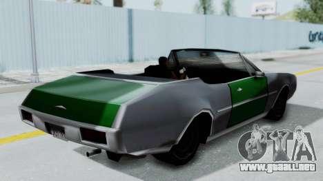 Clover Cabrio para la visión correcta GTA San Andreas