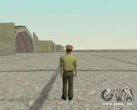 Oficial de las fuerzas armadas de la Federación  para GTA San Andreas tercera pantalla