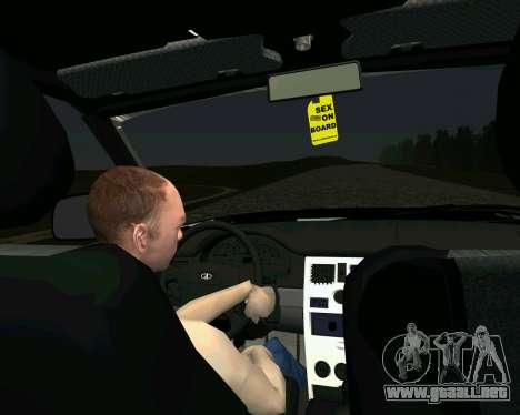 VAZ 2110 para la visión correcta GTA San Andreas