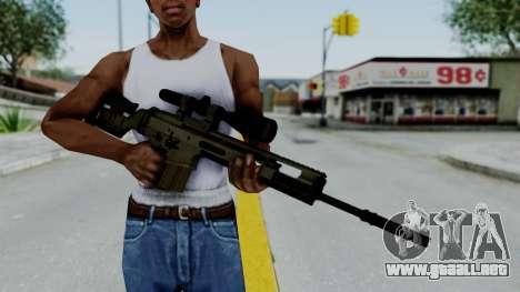 SCAR-20 v2 No Supressor para GTA San Andreas tercera pantalla