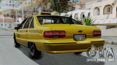 Chevrolet Caprice 1991 Taxi para GTA San Andreas left