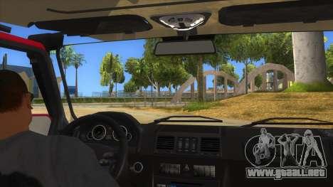 Mercedes-Benz G500 Off Road V3.0 para visión interna GTA San Andreas