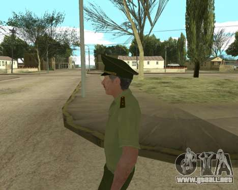 Suboficial mayor danyluk para GTA San Andreas sexta pantalla