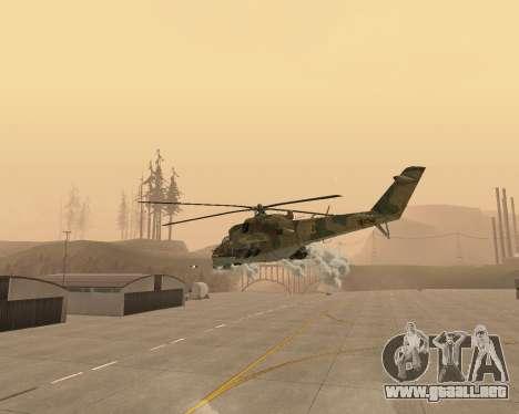 Un Mi-24 En El Cocodrilo para vista lateral GTA San Andreas