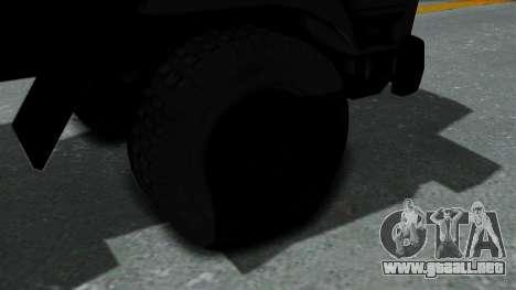 FAP Vojno Vozilo v2 para GTA San Andreas vista posterior izquierda