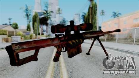 Barret 50.cal Phoenix para GTA San Andreas segunda pantalla